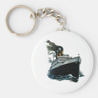 Zwart stoombootschip sleutelhanger