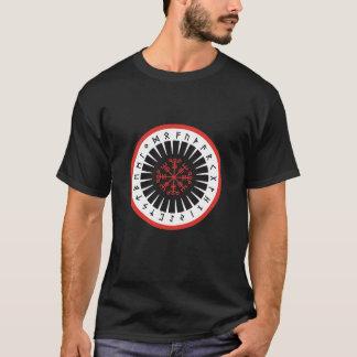 zwart T, Kalere Toenemende embleemvoorzijde T Shirt
