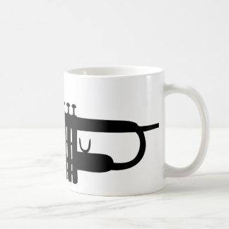 zwart trompetpictogram koffiemok
