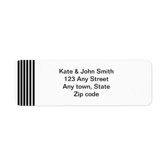 zwart-wit adresetiket etiket