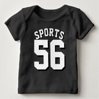Zwart & Wit Baby | Ontwerp van Jersey van Sporten Baby T-shirt