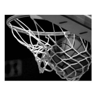 Zwart & Wit Basketbal Briefkaart