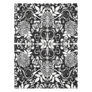 Zwart-wit BloemenTafelkleed Tafelkleed