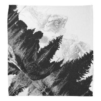 Zwart-wit bos bandana