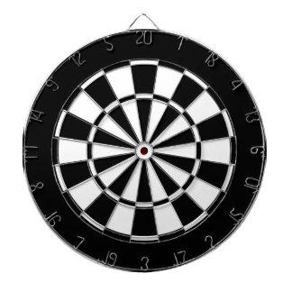 zwart-wit dartborden