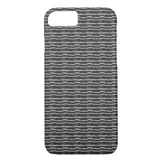 Zwart & wit de lijnen horizontaal patroon van iPhone 7 hoesje