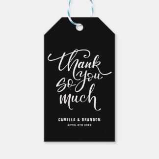 Zwart & Wit die dankuwel het Label van de Gift van Cadeaulabel