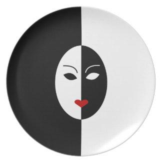Zwart Wit en Rood Masker Bord