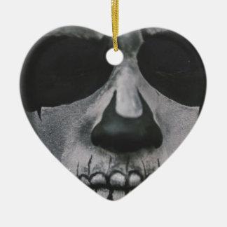 Zwart & Wit Eng Gezicht… Keramisch Hart Ornament