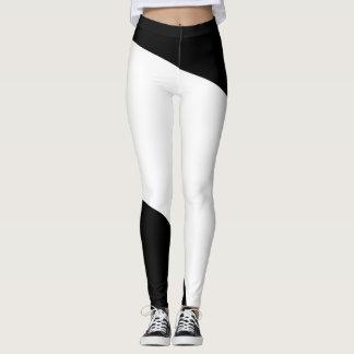 Zwart-wit Geometrisch Patroon Leggings
