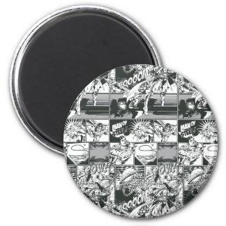 Zwart-wit Grappig Patroon Koelkast Magneetje