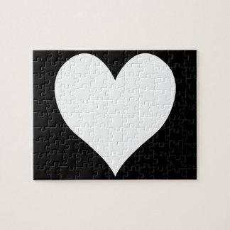 Zwart-wit Hart Puzzel