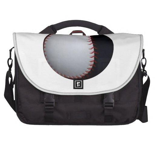 Zwart-wit Honkbal/Softball Tassen Voor Laptops