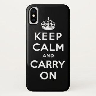 Zwart-wit houd rust en draag iPhone x hoesje