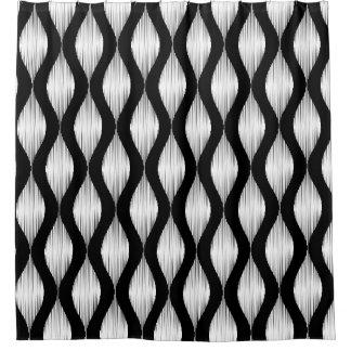 Zwart-wit Ikat het gordijnontwerp van de Gordijn 0