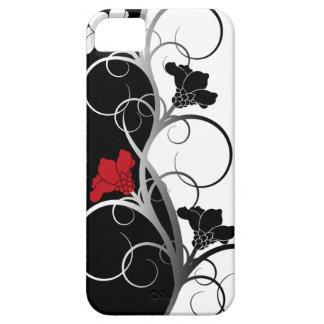 Zwart/Wit iPhone5/5S Hoesje van Bloemen