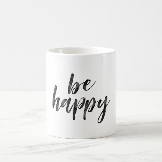 Zwart-wit is het gelukkige inspirerend citaat koffiemok