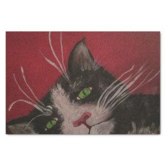 zwart-wit kattenpapieren zakdoekje tissuepapier