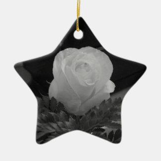 Zwart-wit Keramisch Ster Ornament