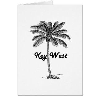 Zwart-wit Key West Florida & het ontwerp van de Kaart
