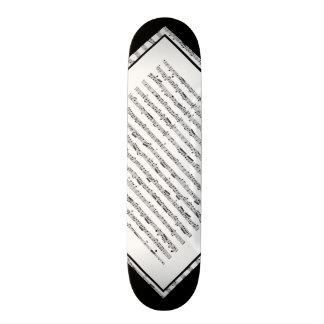 Zwart-wit Klantgericht Dek 1 van het Patroon van Skateboard