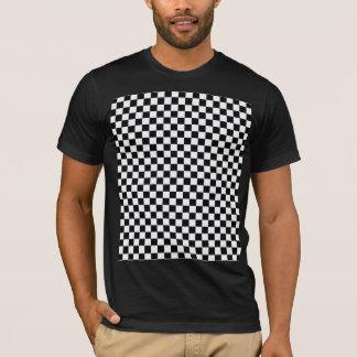 Zwart-wit Klassiek Schaakbord T Shirt
