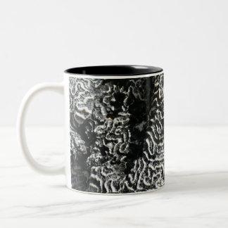 Zwart-wit Koraal vat ik de Foto van de Natuur Tweekleurige Koffiemok