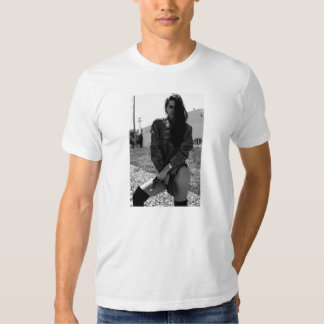 zwart & wit meisje op een overhemd tshirts