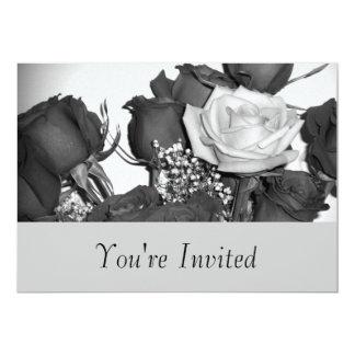 Zwart-wit nam Uitnodiging toe