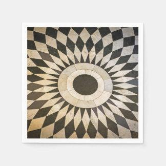 Zwart-wit ontwerp papieren servetten