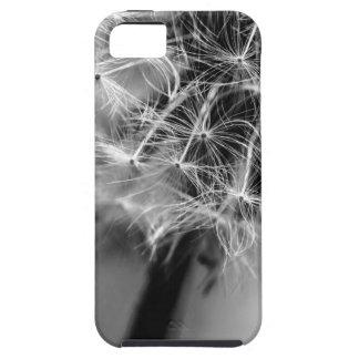 Zwart-wit paardebloem tough iPhone 5 hoesje