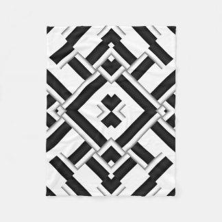 Zwart-wit Patroon Fleece Deken