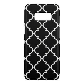 Zwart Wit Patroon Quatrefoil Case-Mate Samsung Galaxy S8 Hoesje