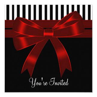 Zwart Wit Rood Al Partij van de Gelegenheid 13,3x13,3 Vierkante Uitnodiging Kaart