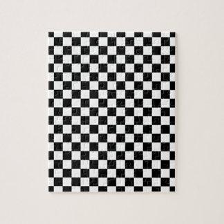 Zwart-wit Schaakbord Puzzel