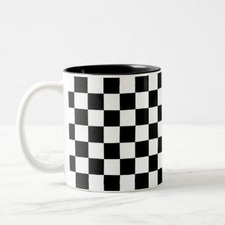 Zwart-wit Schaakbord Tweekleurige Koffiemok