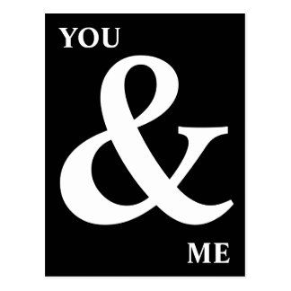 Zwart-wit u en me Ampersand Briefkaart