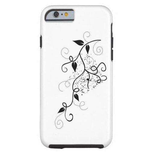 Zwart & wit vector de taksilhouet van de tough iPhone 6 case