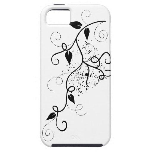 Zwart & wit vector de taksilhouet van de klimopwer Case-Mate iPhone 5 hoesjes