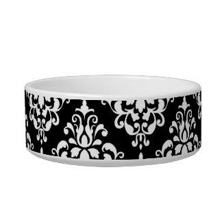 Zwart Wit Vintage Patroon 1 van het Damast Voerbakje