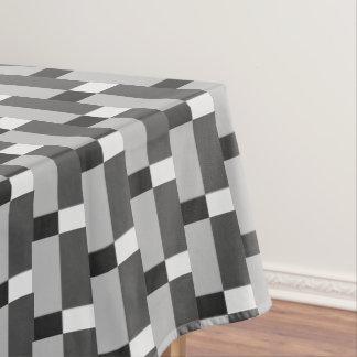 Zwart Wit Zilveren Grijs Gestreept Patroon Tafelkleed