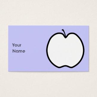 Zwart-witte Appel Visitekaartjes