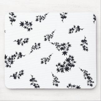 Zwart-witte Bladeren Muismat
