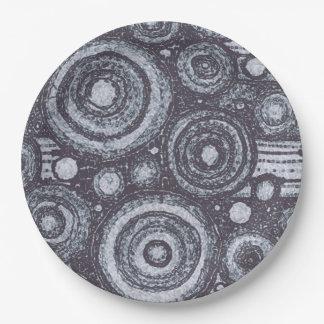 Zwart-witte Cirkels Papieren Bordje