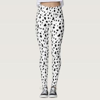 Zwart-witte Dalmatische Druk Leggings