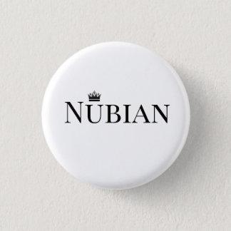 Zwart-witte de Knoop van Nubian Ronde Button 3,2 Cm
