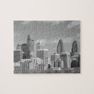 Zwart-witte de wolkenkrabbers van Philly Legpuzzel