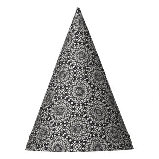 Zwart-witte Decoratieve Mandala Feesthoedjes