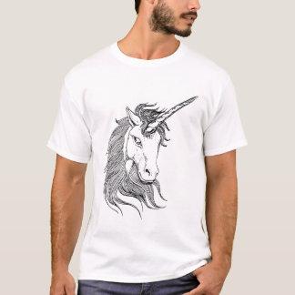 Zwart-witte Eenhoorn T Shirt