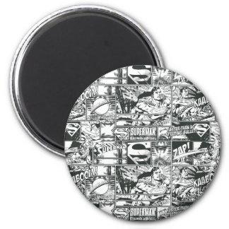 Zwart-witte Emblemen Ronde Magneet 5,7 Cm